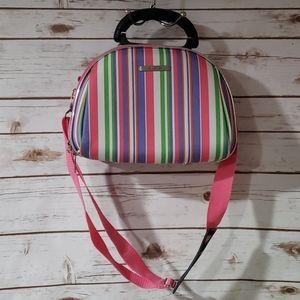 Luca Vergani Striped Travel Cosmetics Bag